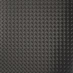 RaceDay 24 in. x 24 in. Peel and Stick Diamond Tread Midnight Black Poly Vinyl Tile (40 sq. ft. / case)