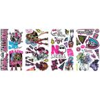 10 in. x 18 in. Monster High 37-Piece Peel and Stick Wall Decals