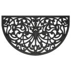 Ironworks 18 in. x 30 in. Wrought Iron Rubber Floor Mat