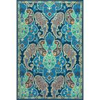 Carmen Pool Green 2 ft. x 3 ft. Floral Area Rug