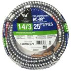 14/3 x 25 ft. BX/AC-90 Armored Electrical Cable