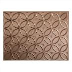24 in. x 18 in. Rings PVC Decorative Backsplash Panel in Argent Bronze