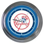 15 in. MLB License New York Yankees Neon Wall Clock
