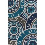 Labynkr Navy 9 ft. x 13 ft. Indoor Area Rug