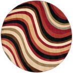 Porcello Red/Multi 7 ft. x 7 ft. Round Area Rug