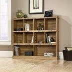 Barrister Lane Collection 3-Shelf Horizontal Bookcase in Scribed Oak