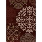 Aston Dark Red 7 ft. 10 in. x 10 ft. 10 in. Area Rug