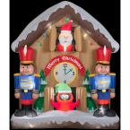 6.5 ft. H Inflatable Animated Santa Clock Scene