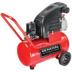 6 Gal. 1.5 HP Oil-Lubricated Portable Electric Horizontal Air Compressor with Wheel Kit