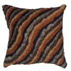 Contemporary Damasi Chocolate 18 in. x 18 in. Square Decorative Accent Pillow