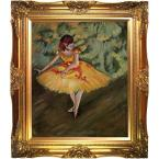 24 in. x 20 in. Dancer Making Points Hand-Painted Framed Oil painting