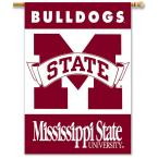NCAA 28 in. x 40 in. Mississippi State 2-Sided Banner with Pole Sleeve
