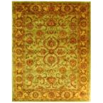 Heritage Green/Gold 12 ft. x 15 ft. Wool Area Rug