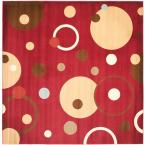 Porcello Red/Multi 7 ft. x 7 ft. Square Area Rug
