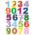 25.5. in. x 33.5 in. Numbers Wall Decal