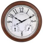 18 in. Weathered Clock and Analog Thermometer