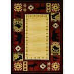Northern Territory Red 5 ft. 3 in. x 7 ft. 5 in. Area Rug
