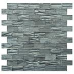 Aspen Subway Blue 12-1/2 in. x 12-1/2 in. x 5 mm Glass Mosaic Tile