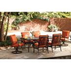 Messina 7-Piece Patio Dining Set with Paprika Cushions