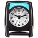 Fold-Up 4.75 in. Travel Analog Alarm Table Clock
