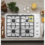 30 in. Gas Cooktop in White with 4 Burners including Precise Simmer Burner