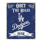 14.5 in. H x 11.5 in. D Heavy Duty Steel Los Angeles Dodgers Embossed Metal Sign Wall Art