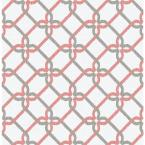 56.4 sq. ft. Palladian Coral Links Wallpaper