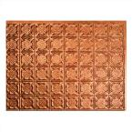 24 in. x 18 in. Traditional 6 PVC Decorative Backsplash Panel in Antique Bronze
