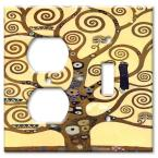 Klimt: The Tree of Life - Outlet / Switch Combo Wall Plate