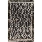 Erinome Charcoal 3 ft. 3 in. x 5 ft. 3 in. Indoor Area Rug
