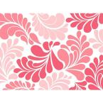 18 in. Coral Floral Adhesive Shelf Liner