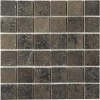 Terra 12 in. x 12 in. Bengal Slate Porcelain Mesh-Mounted Mosaic Tile-DISCONTINUED