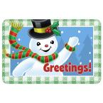 New Wave Holiday 1 ft. 6 in x 2 ft. 3 in. Neoprene Waving Snowman Greetings Mat