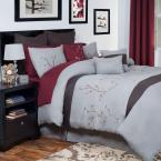 Grace Gray 14-Piece King Embroidered Comforter Set