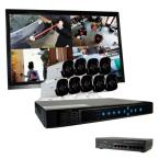 Ultra 16-Channel HD 3TB Surveillance NVR with (9) 4 Megapixel Bullet Cameras