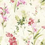 56.4 sq. ft. Driselle Pink Floral Wallpaper