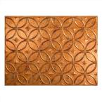 24 in. x 18 in. Rings PVC Decorative Backsplash Panel in Muted Gold