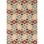 Shelton Lifestyle Collection Multi 5 ft. 3 in. x 7 ft. 7 in. Area Rug