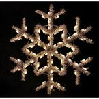 4 ft. Garland Snowflake with Warm White Lights