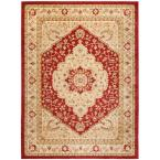 Austin Red/Creme 8 ft. x 11 ft. Area Rug
