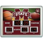 Mississippi State University 14 in. x 19 in. Scoreboard Clock with Temperature