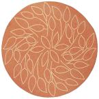 Persimmon Terracotta 8 ft. 6 in. Round Area Rug