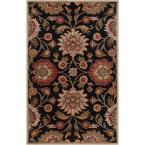 Amanda Black Wool 8 ft. x 10 ft. Area Rug