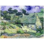 14 in. x 19 in. Cottages at Auvers-Sur-Oise Canvas Art