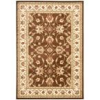 Lyndhurst Brown/Ivory 6 ft. 7 in. x 9 ft. 6 in. Area Rug