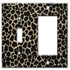 Leopard Print - Switch / Rocker Combo Wall Plate