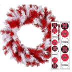 24 in. University of Nebraska Collegiate Wreath with 14 Collegiate Ornaments