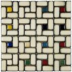 Essence Spiral Cascade 12 in. x 12 in. x 9 mm Porcelain Mosaic Tile