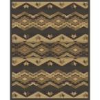 Taos Desert Night Polypropylene 7 ft. 10 in. x 10 ft. Area Rug