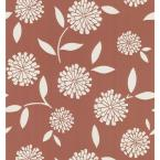 8 in. W x 10 in. H Zinnia Floral Wallpaper Sample